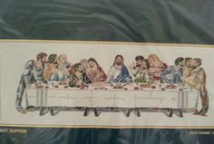 LAST SUPPER  COUNTED CROSS STITCH KIT SUNSET  UNOPENED 1980s KIT #Sunset