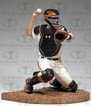 Name: Buster Posey nd hes only played two full seasons.  Not a bad start to a career. Posey possesses the rare combination of being able to hit for power and average, all while have the mental aptitude to handle the pitching staff and lead his team.  This figure captures Posey behind the plate, wearing his home uniform, and is the first time McFarlane Toys has created an All-Star brand hockey style catchers helmet.