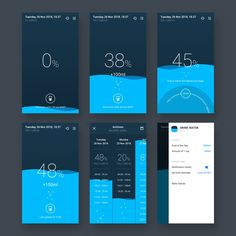 Water Tracker app - Concept Design on Behance You are in the right place about App Design green Here we offer you the most beautiful pictures about the news App Design you are looking for. Dashboard Design, App Ui Design, Mobile App Design, User Interface Design, Web Design, Water Reminder App, Timer App, Portfolio Design