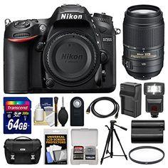 Kit includes:♦ 1) Nikon D7200 Wi-Fi Digital SLR Camera Body♦ 2) Nikon 55-300mm f/4.5-5.6G VR DX AF-S ED Zoom-Nikkor Lens♦ 3) Nikon Deluxe Digital SLR Camera Case - Gadget Bag♦ 4) Transcend 64G...