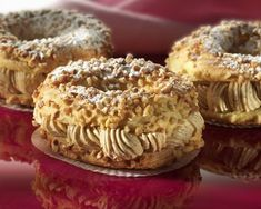 Paris Brest au Thermomix Paris Brest, Midnight In Paris, Dessert Thermomix, Dacquoise, Cooking Chef, Bagel, Biscuits, Food And Drink, Breakfast