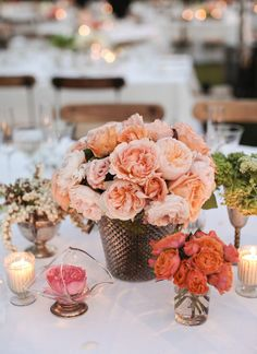 #centerpiece  Photography: Gia Canali - giacanali.com Event Design and Production: Yifat Oren & Associates - yifatoren.com/ Florals: The Velvet Garden - thevelvetgarden.com/  Read More: http://www.stylemepretty.com/2013/05/09/molly-sims-wedding-from-gia-canali-part-ii/