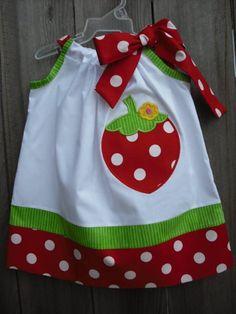 Strawberry Pillowcase Dress $25.40 Grandma-like Etsy baby gifts by @Nancy_Horn on @BabyCenter #newborns #newborngifts #infants #infantgifts