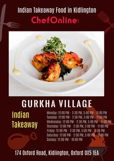 Gurkha Village offers delicious Indian Food in Kidlington, Oxford Browse takeaway menu and place your order with ChefOnline. Order Takeaway, Indian Food Recipes, Oxford, Menu, Delivery, Restaurant, Fresh, Heart, Book