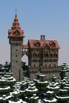 Medieval Minecraft castle - Minecraft World Construction Minecraft, Minecraft Plans, Minecraft City, Minecraft Survival, Minecraft Tutorial, Minecraft Blueprints, Minecraft Designs, How To Play Minecraft, Minecraft Crafts