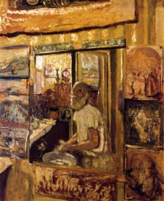 "dappledwithshadow: ""Self-Portrait in the Dressing Room Mirror, Edouard Vuillard 1924 """