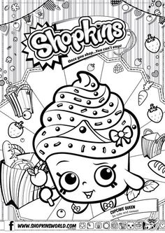 Shopkins Cupcake Queen Coloring Pages Printable And Book To Print For Free Find More Online Kids Adults Of