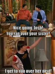 Some funny pics and gifs of Victorious, iCarly and Big Time Rush! Get ready to laugh your head off! With Drake and Josh and lots more! Old Tv Shows, Best Tv Shows, Best Shows Ever, Favorite Tv Shows, Drake And Josh Quotes, Drake Und Josh, Drake And Josh Megan, Typewriter Series, Funny As Hell