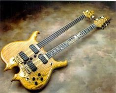 Alembic bass and guitar double neck Custom Bass Guitar, Guitar Shop, Jazz Guitar, Custom Guitars, Music Guitar, Cool Guitar, Guitar Art, Rare Guitars, Unique Guitars