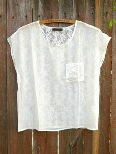 Clover Field Lace Back Top [2619] - $27.00 : Vintage Inspired Clothing & Affordable Summer Dresses, deloom   Modern. Vintage. Crafted.