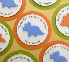 dinosaur party favor tags - cute & easy