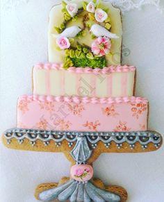 Royal Icing Cookies, Sugar Cookies, Wedding Cake Cookies, Fondant Icing, Edible Art, Cookie Decorating, Special Day, Cupcake Cakes, Cupcakes