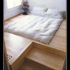 Low bed in floor