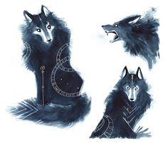 "wingsofhuginn: "" Wolves, by Marion Bulot """