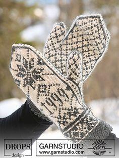 Ravelry: 47-6b Mittens in Norwegian pattern pattern by DROPS design
