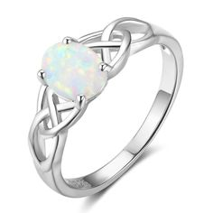Elegant Oval White Pink Blue Opal Rings for Women 925 Sterling Silver Braided Ring Wedding Engagement Ring 6 7 8 (Lam Hub Fong) Style: Trendy Material: 925 Sterling Silver, Created White Opal/ Blue Opal/Pink Opal Size: Weight: Sterling Silver Opal Ring, Silver Rings, Silver Jewellery, White Opal Ring, Celtic Wedding Rings, Wedding Bands, Braided Ring, Love Is In The Air, Engagement Jewelry