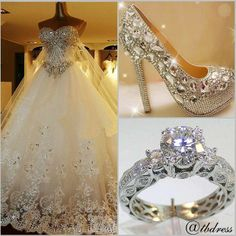 SO BEAUTIFUL EVERYTHING THE DRESS THE SHOES AND THE RING