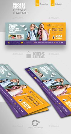 Buy Kids School Cover Templates by grafilker on GraphicRiver. Kids School Cover Templates Fully layered INDD Fully layered PSD 300 Dpi, CMYK IDML format open Indesign or later. Social Media Banner, Social Media Branding, Social Media Template, Social Media Design, Social Media Graphics, Facebook Cover Design, Facebook Cover Template, Facebook Timeline Covers, Banners Web