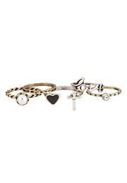 Mixed metal heart and cross ring set - maurices.com