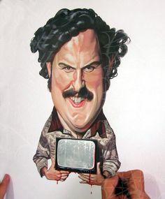 caricaturas de Jorge Restrepo, ilustradores colombianos, ilustracion del Patrón del Mal, Pablo Escobar