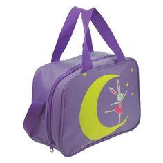 """Starlite 240 Purple Ballet Moon Holdall.   Childrens Dance Bag.  Fabric : Nylon  Size : 25 cm x 20 cm 10 cm (10"""" X 8"""" X 4"""")  Colour : Purple  www.dancinginthestreet.com Dance Bags, Ballet, Dance Wear, Back To School, Gym Bag, Essentials, Dance Shoes, Moon, Purple"""