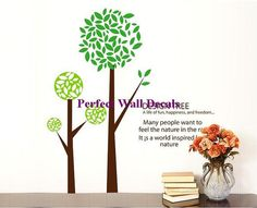 decal wall vinyl decal wall tree wall decal wall decals Nursery wall decals Branch vinyl wall decals Children wall decals nature---Trees on Etsy, $45.00