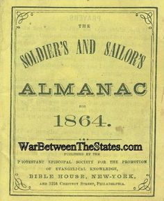 1864 Soldier's And Sailor's Almanac