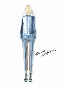 From idea to runway: See Tommy Hilfiger's sketches - Vogue Australia