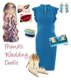 """Wedding Guest Outfit"" by curvygirlamy ❤ liked on Polyvore featuring moda, Jolie Moi, Kate Spade, Lipsy y Oscar de la Renta"
