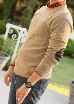 elbow patch sweater....hmm