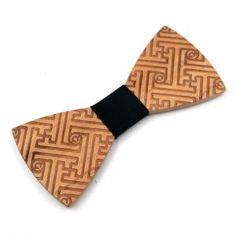 Spoločenský drevený motýlik s ľudovým vzorom - reliéf labyrint Tie, Accessories, Cravat Tie, Ties, Jewelry Accessories