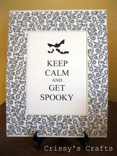A cute halloween take on one of my fave sayings - the instructions on how to make it too!