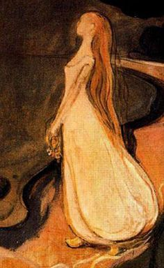 huariqueje: The woman in three stages.The sphinx (Detail) - Edvard Munch 1894