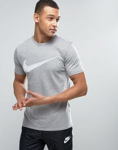 Nike T-Shirt With Hangtag Swoosh In Grey 707456-063