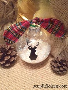 Silhouette Deer Head Ornament                                                                                                                                                                                 More