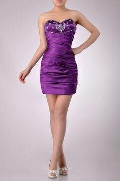 Sweetheart Neckline Strapless Cocktail Dress Price : $219.99 Free Shipping!