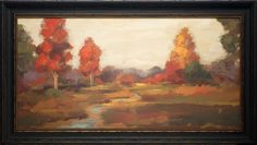 North American Art Fall Creek Wholesale Framed Autumn Landscape Art Print