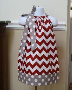crimson tide alabama chevron Pillowcase dress by BlakeandBailey, $19.99