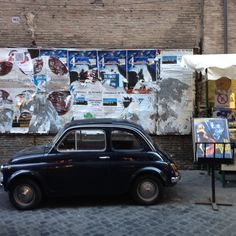 Vintage #Fiat500 on the streets of #Rome | BrowsingItaly.com