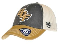 Central Florida Knights Top of the World Black Gold Offroad Adj Snapback Hat Cap