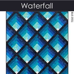 Waterfall Quilt Pattern PDF Two Color Ombre Gradating   Etsy Layer Cake Quilt Patterns, Layer Cake Quilts, Modern Quilt Patterns, Cross Patterns, Quilt Patterns Free, Free Pattern, Log Cabin Quilt Pattern, Cross Quilt, Chicken Lentil