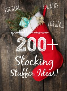 Love it? Pin it to SAVE it! Follow Spend With Pennies on Pinterest for more great tips, ideas and recipes! Leave your own great tips in the comments below! Pin this List HERE I am always looking for unique or different ideas for stocking stuffers instead of the same old thing. Last week I had asked many of you for some input and ideas… and you guys gave me a HUGE list on Facebook! I decided to put all of {Read More}
