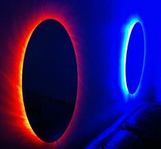 Portals (string of lights & a mirror)
