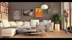 My 3d work : Interiors, rendered in Vray and cinema4d
