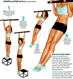 perfect pull ups exercises. I can do 5 now ;). Not the crossfit kind...5 dead hang pull ups ;)
