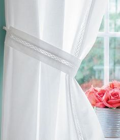 Shop For Curtain Tiebacks, Diamond Band Tiebacks At Country Curtains For  This And More Window Treatments And Curtain Hardware!