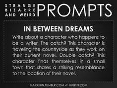 weird prompts | For All Your Writerly Needs!