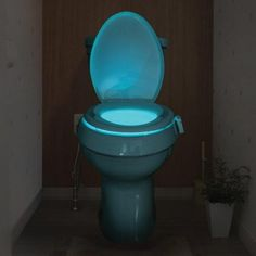 The Toilet Seat Light Glow features a color changing option, so you can choose from a variety of different colors. Led Night Light, Light Up, Diy Light, Toilet Bowl Light, Bathroom Accents, Luz Led, Light Sensor, Amazing Bathrooms, Cool Gadgets