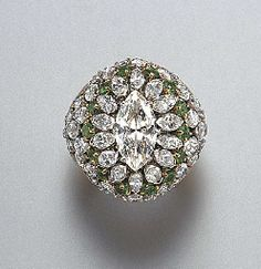 look at that marquise diamond....1930s cocktail ring