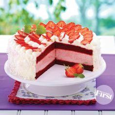 Red Velvet Ice-Cream-Sandwich Cake | First for Women